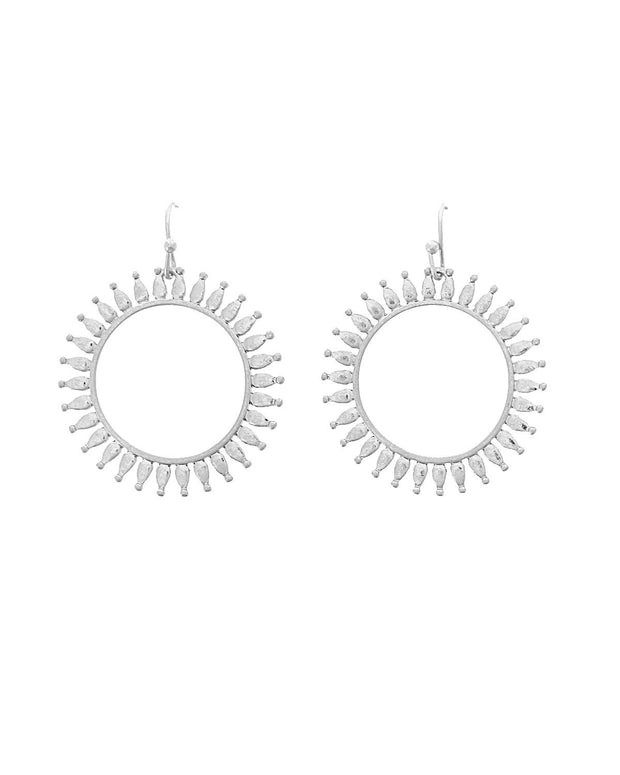 Paige Metal Sunburst Earrings