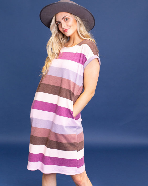 Susie Striped Midi Dress | S-XL