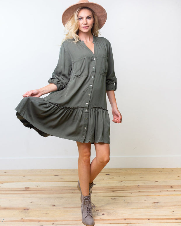 Marina Button Up Dress | S-L