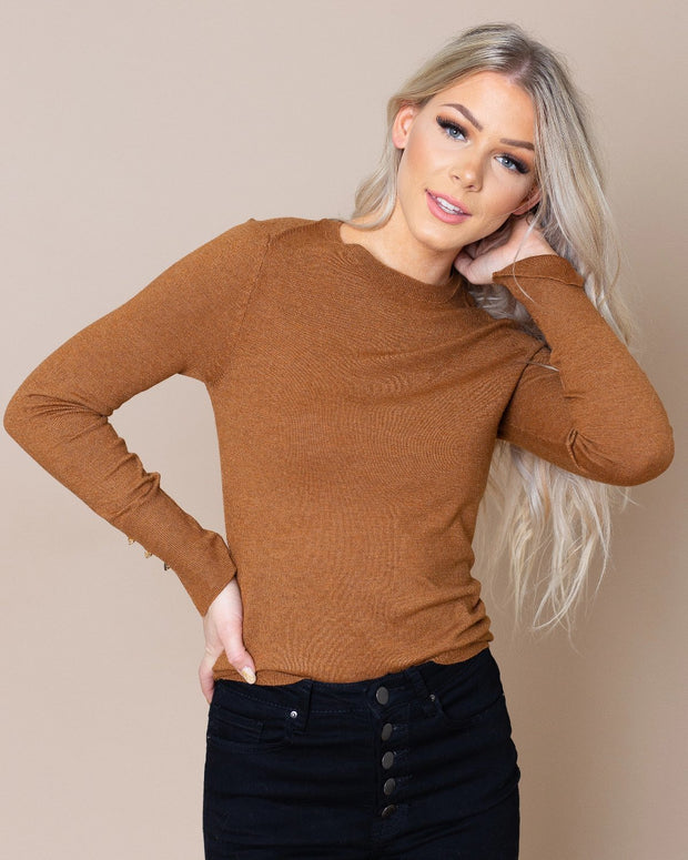 Aurora Sweater with Button Detail | S-L
