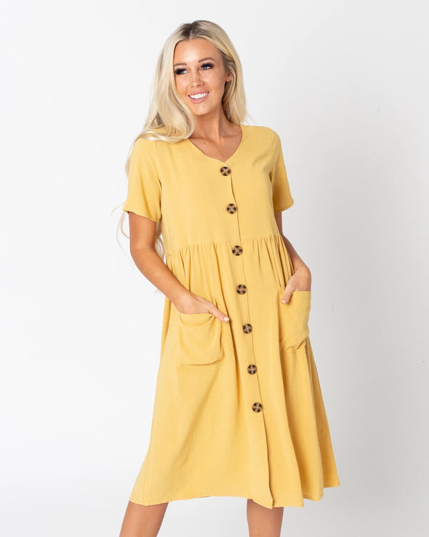 Lani Button Front Dress | S-3XL