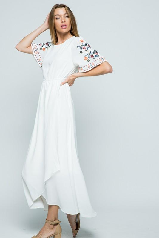 Ivory High-Low Maxi Dress | S-L