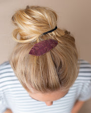 Tinley Leather Feather Hair Clip