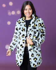 Hattie Leopard Print Fur Coat | One Size