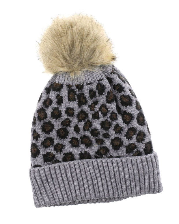 Gia Sherpa Leopard Print Hat | One Size