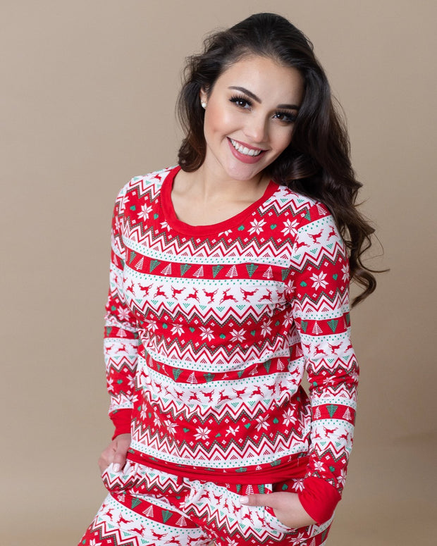 Noelle Christmas Fleece-Lined Pajama Set | S-XL