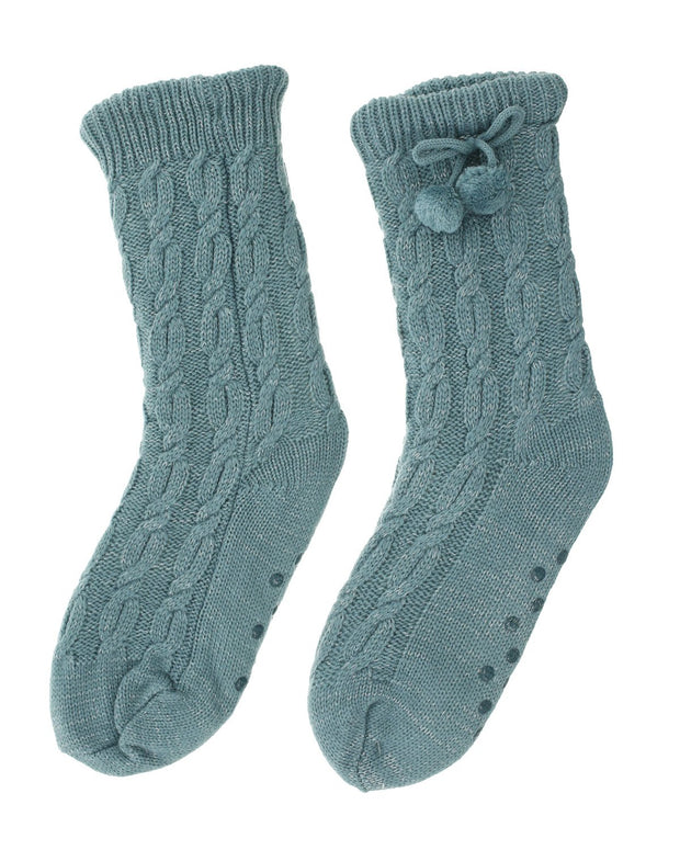 Sybill Cable Knit Socks | One Size