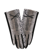 Dorothy Python Print Gloves | One Size