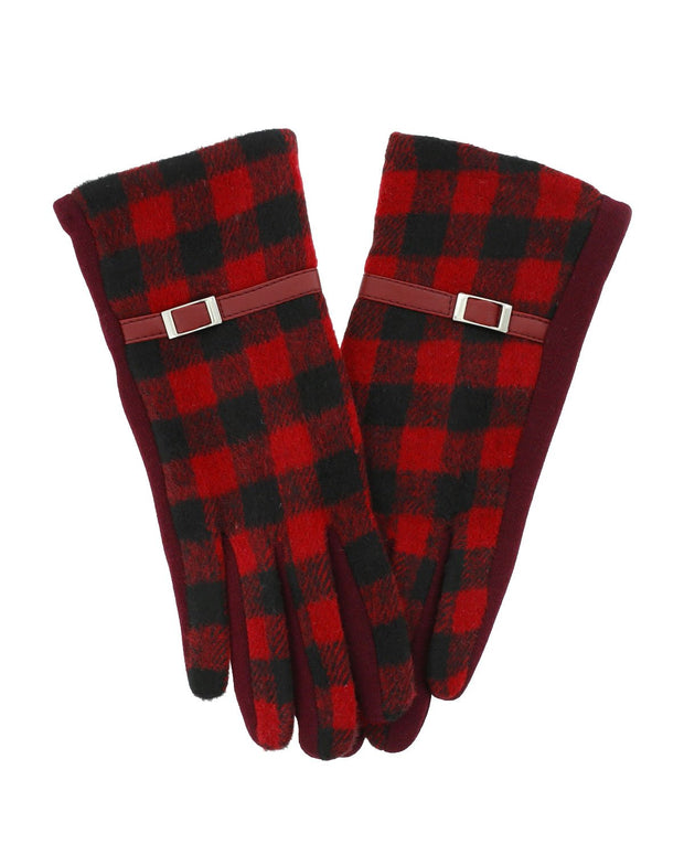 Oda Buffalo Plaid Gloves | One Size