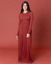 Katie Long Sleeve Maxi Dress | S-3XL