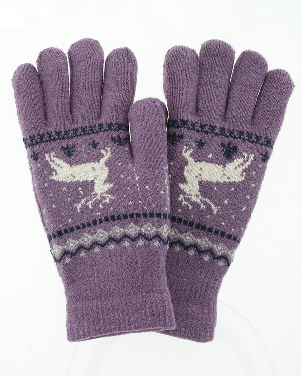 Kellen Reindeer Knit Gloves | One Size