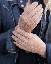 Liliana Snake Skin Gloves | One Size