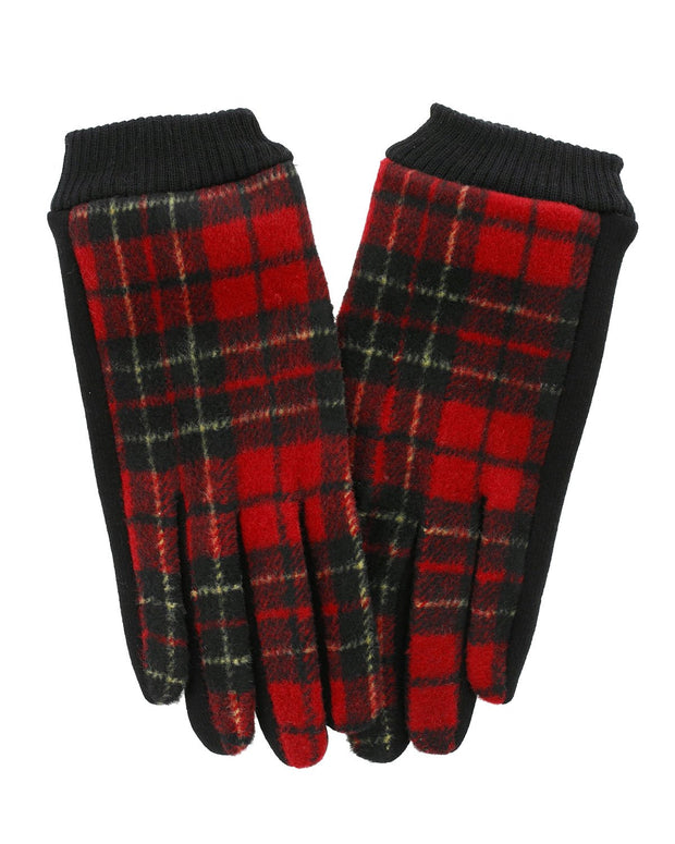 Suzy Plaid Gloves | One Size