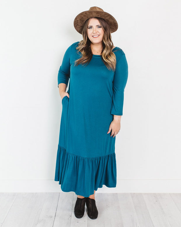 Janice Maxi Dress with Ruffle | S-3XL