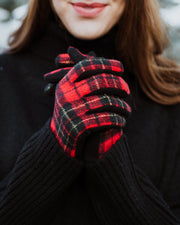 Marion Buffalo Plaid Gloves | One Size