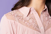 Fiona Embroidered Lace Yoke Top | S-L