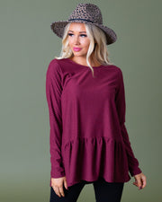 Lori Swiss Dot Tiered Flounce Top | S-XL