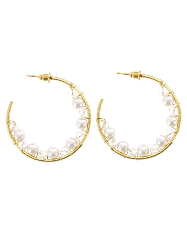 Amaya Pearl Bead Earrings