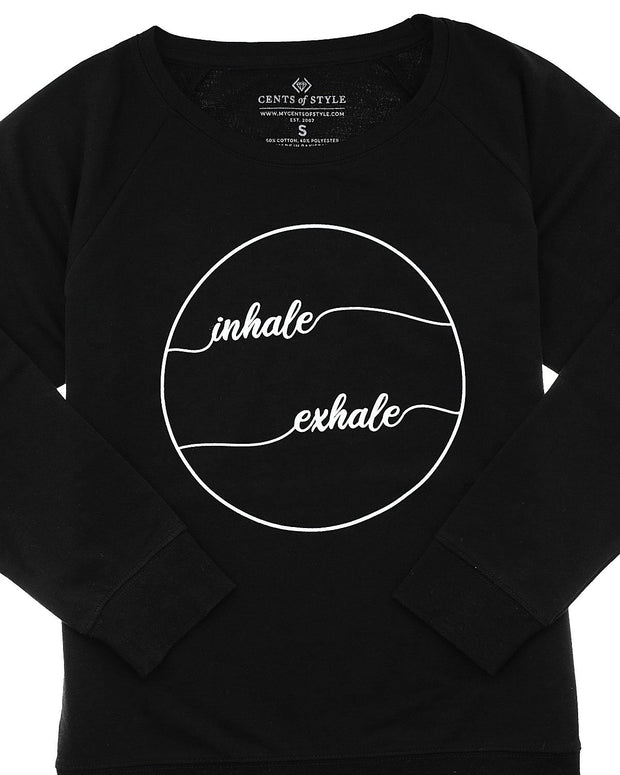 Inhale, Exhale Graphic Sweatshirt | XS-3XL