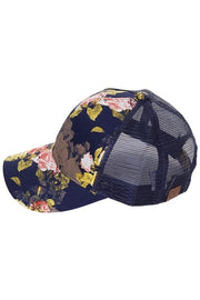 Rose Floral Trucker Hat | 2 COLORS