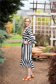 CLEARANCE JoJo Black Striped Dress | S