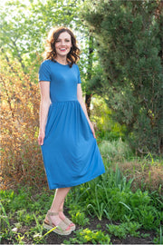 Riverside Blue Midi Dress | S-3XL