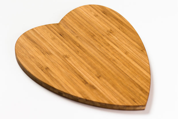 Heart Cutting Board - Bamboo