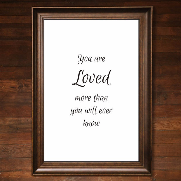 "Big Wall Art 24"" X 36"" - You Are Loved"
