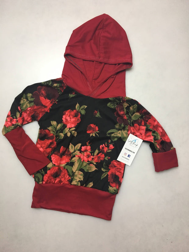 Mommy & Mini Rose Floral Hoodie