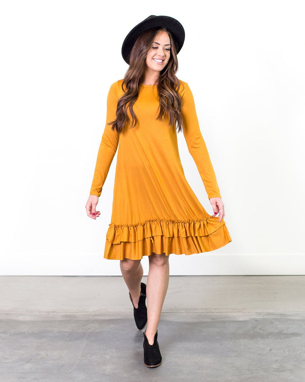 Lauren Ruffle Hem Dress | S-3XL