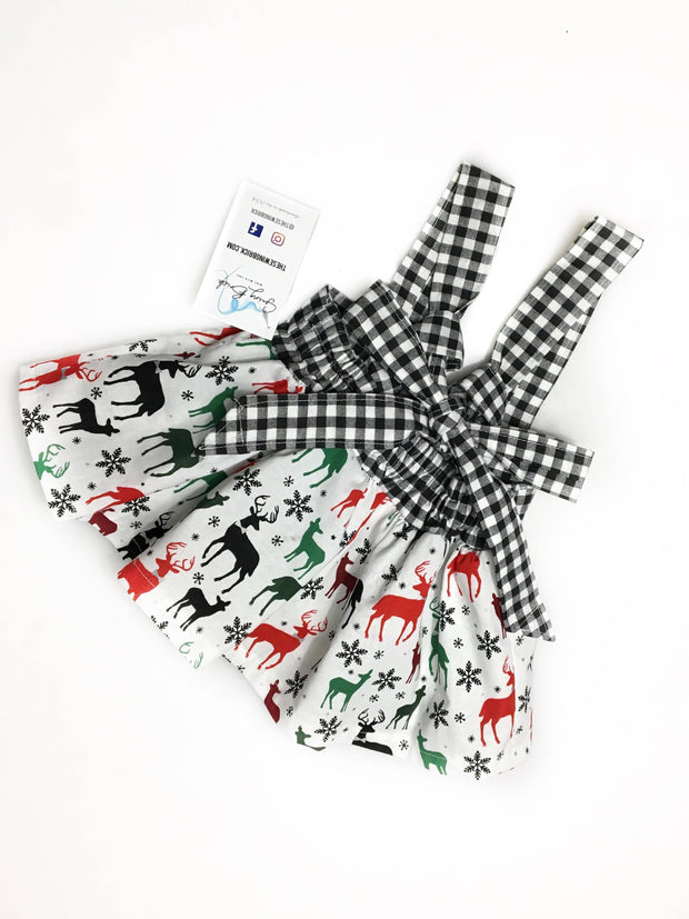 Holiday Deer- Infant Suspender Skirt