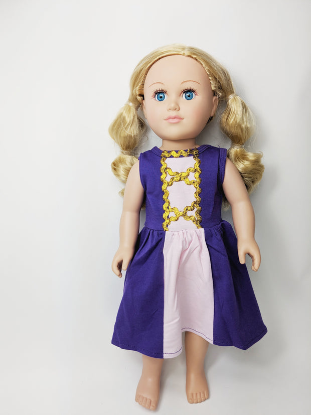 "18"" Doll - Let Down Your Hair Dress"