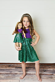"18"" Doll - Under the Sea Dress"