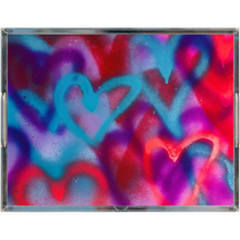 Load image into Gallery viewer, Graffiti Hearts Acrylic Tray