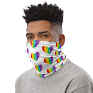 Rainbow Pride Heart Face Mask