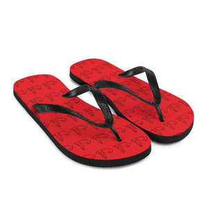 Red Hot Bunny Flip-Flops
