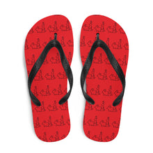 Load image into Gallery viewer, Red Hot Bunny Flip-Flops