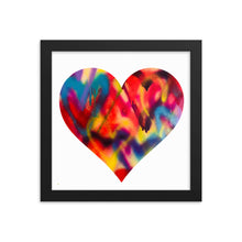 Load image into Gallery viewer, Framed graffiti heart