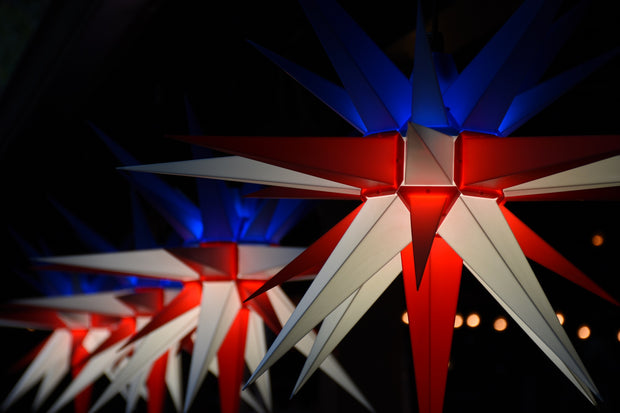 "3D Illuminated Star Light ""Patriot US Flag"""