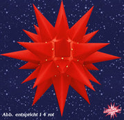 Red Paper Lighted Star