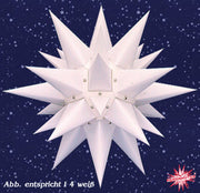 White Paper Lighted Moravian Star