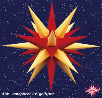 Yellow Candy Cane Paper Lighted Moravian Star