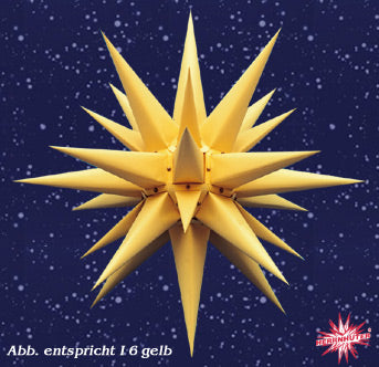Yellow Paper Lighted Star