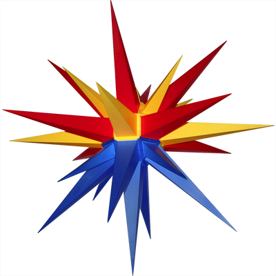 "3D Moravian Lighted Star ""Arizona Flag"""