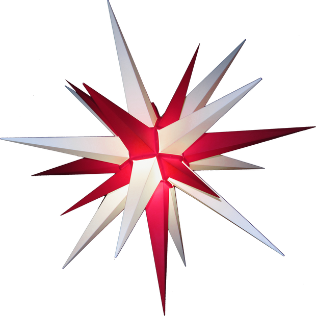 "3D Moravian Lighted Star ""Candy Cane"""