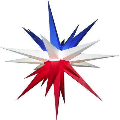 "3D Illuminated Star Light ""Lone Star Texas Flag"""