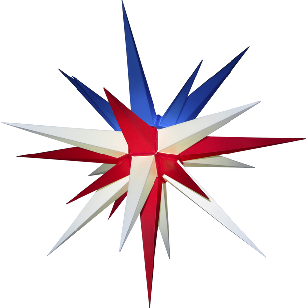 "3D Moravian Lighted Star ""Patriot US Flag"""