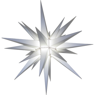 White Durable Plastic Lighted Moravian Star