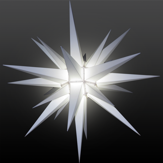 3D Illuminated Star Light White