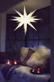 3D Moravian Lighted Star White